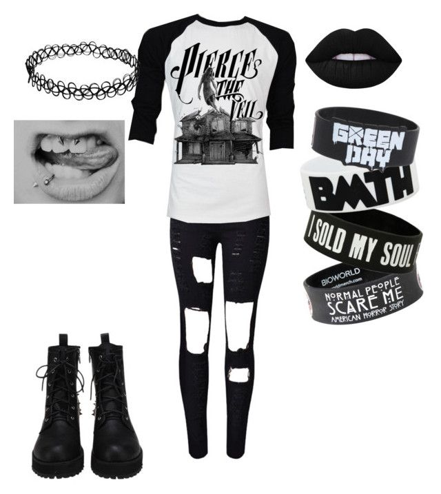 """Always Emo"" by rawr-the-dinosaur ❤ liked on Polyvore featuring Retrò and Lime Crime"