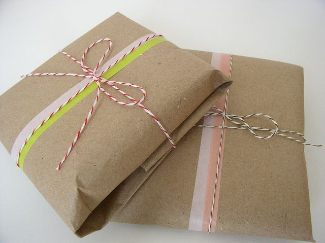 Packaging with Japanese Masking Tape by BCharmer, via Flickr