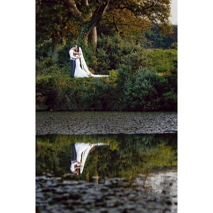 Autumn colours with L+W at Oldwalls, Gower. . We you have wedding couples that are willing to 'push a little' you have the opportuinty to create some much more for them. We captured this image in between meal courses just before October sun disappeared for night!