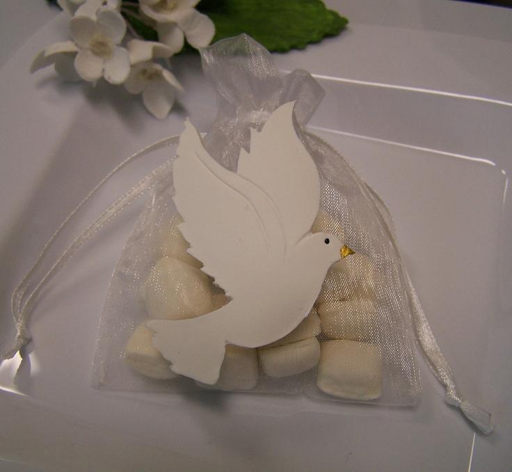 First Communion, baptism, confirmation Dove party favor bags 10 pieces. $13.50, via Etsy.