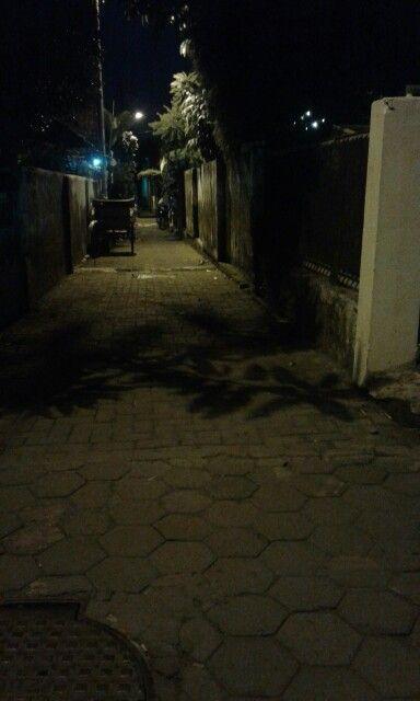 Kampung at night