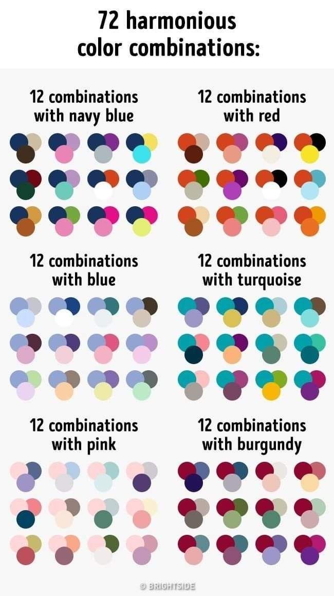 72 Harmonious Color Combinations Google Search Color Combinations Color Palette Color