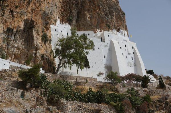 Klooster Gossoviotissa, dicht bij Amorgos Chora 2013