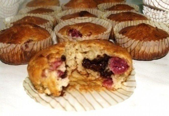 Meggyes-csokis muffin