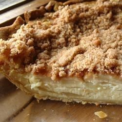 This is a delicious recipe combining apples, sour cream, sugar and a few others--to make a scrumptious dessert.  I highly recommend that you use a high quality sour cream-it really does make the difference.
