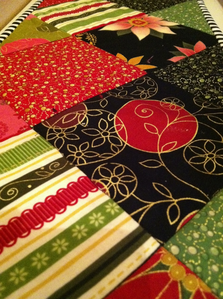 Another view of my Holiday Table Runner