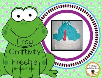 This frog craft can be used with any writing, fiction or nonfiction.