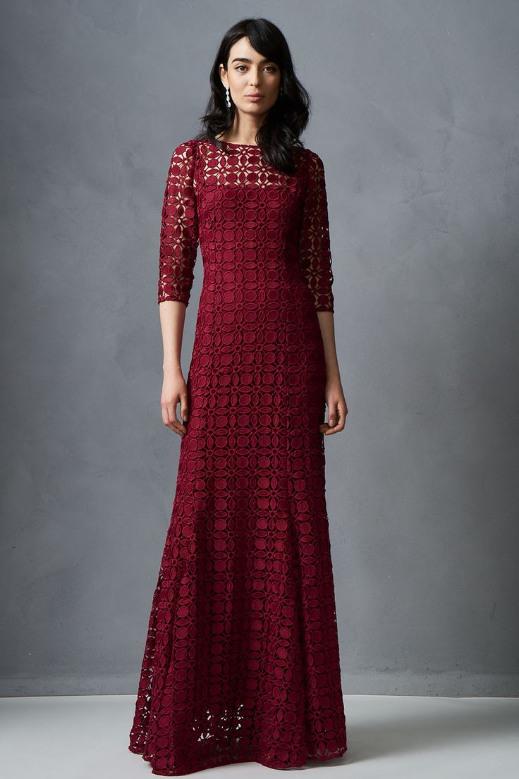 PRE-ORDER Geometric Lace Gown  from KAY UNGER. Formal Gown.