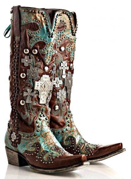Omg! Lane/Double D Ranch Ammunition Boots! Red- CROSS, VINTAGE, TRINKETS, BLACK, Turquoise