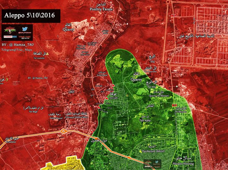 MAP: #SAA gains new ground inside Al-Owaija district north of #Aleppo #Syria @hamza_780