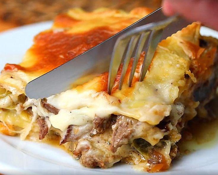 Vous aurez un coup de coeur pour cette lasagne au bifteck et au fromage - Recettes - Ma Fourchette