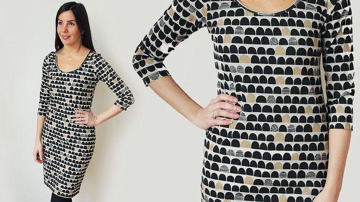 50 Minuten Kleid aus Jersey nähen - Gratis Nähvideo