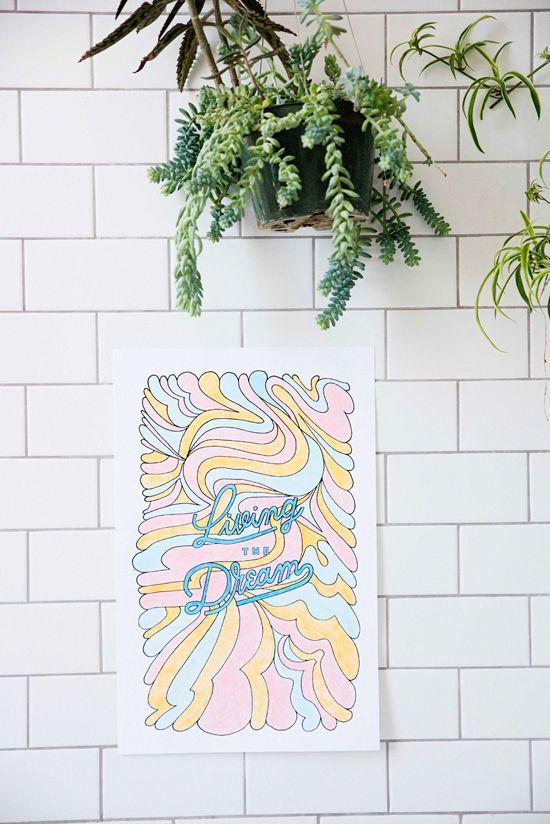 версия для печати цветные плакаты |  designlovefest