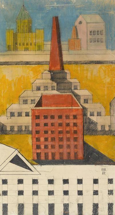 Aldo Rossi -      Composition Perspective, Theatre of the Monde, Venezia, 1982