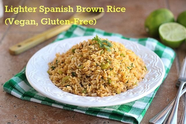 Lighter Spanish Brown Rice (Vegan, GF)