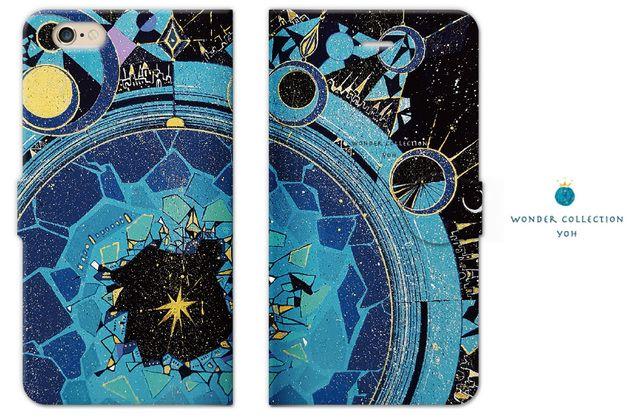 天王星の街 iPhoneケース手帳型