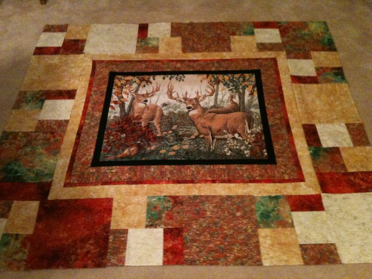 1000+ images about Hunting Panel quilts on Pinterest Quilt patterns free, Deer and Quilt patterns