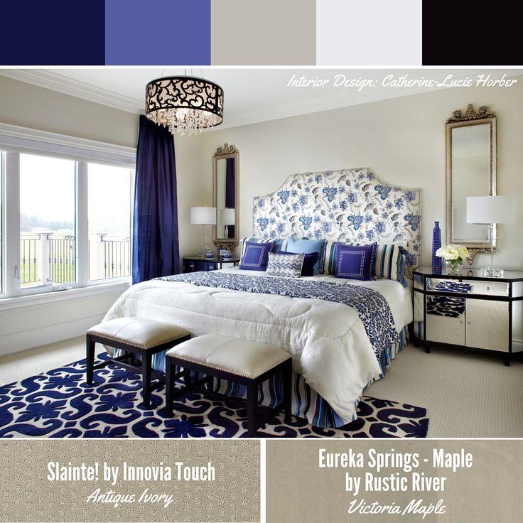 outstanding beautiful blue bedroom interior design   Beautiful blues Interior design by Catherine-Lucie Horber ...