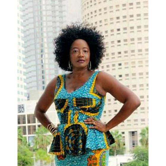 Candy African  Print Peplum Top - Zabba Designs African Clothing Store  - 1