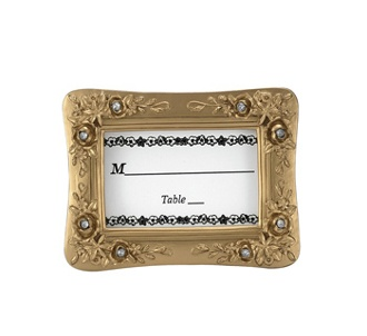 gold resin placecard frame with stones bulk discount