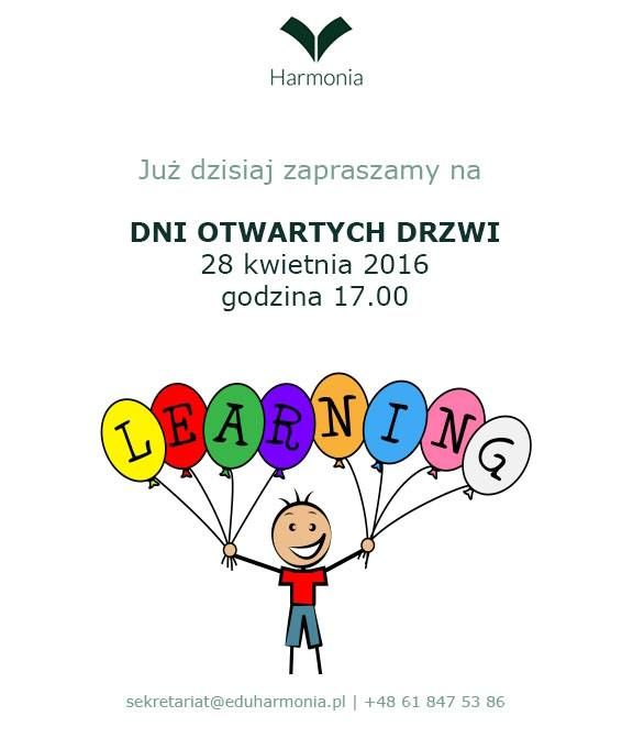 """Drzwi otwarte """"Harmonia"""" Prywatna Szkoła Podstawowa Montessori Poznań, ul. Strzałkowskiego 5/7"""
