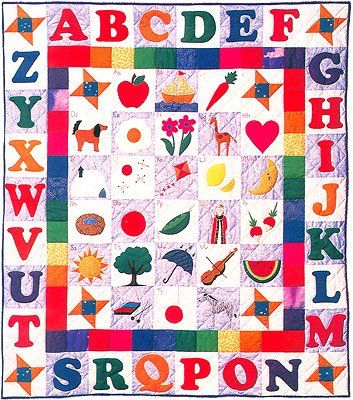 230 best Alphabet Quilts images on Pinterest   Colors, Creative ... : alphabet baby quilt pattern - Adamdwight.com