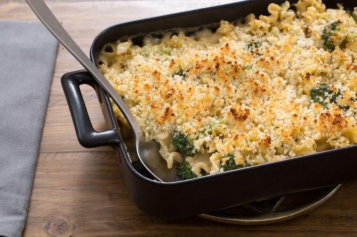 Creamy Broccoli & Fennel Casserole with Mafalda Pasta & Fontina Cheese