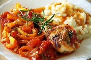 Chicken with peppers