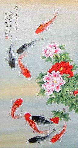 9 best chinese fish paintings images on pinterest chinese calligraphy fish paintings and for Chinese coy fish