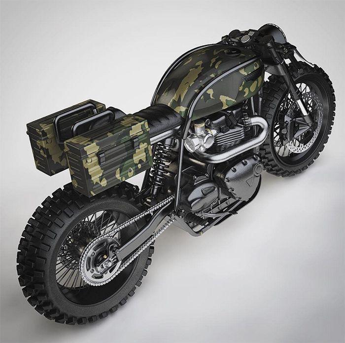 Los Bullitt: Triumph desierto-trineo conceptos del fin del mundo por Ziggy Moto