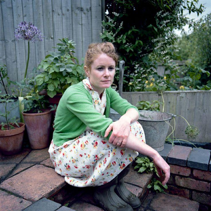 Alys Fowler--dress and cardigan