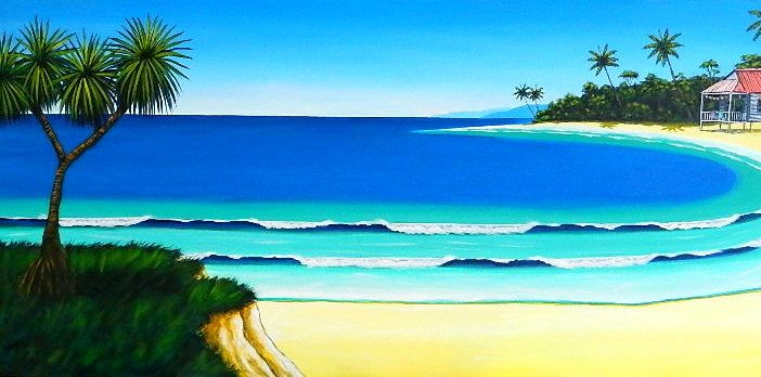"""""""On the Bay"""" 60 x 122cm - to commission yours go to www.daguiarart.com.au"""
