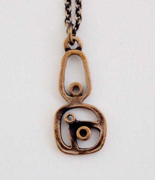 Pentti Sarpaneva for Turun Hopea, Modernist vintage bronze necklace, 1970's. #Finland | FinlandJewelry.com