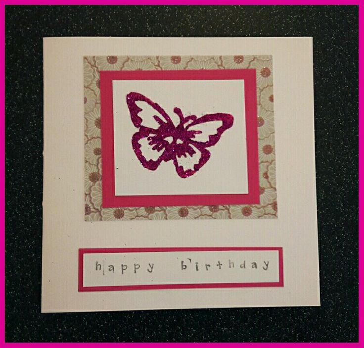 Handmade butterfly birthday card #handmadecards #happybirthday #butterflycard