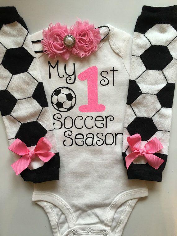 Baby meisje voetbal dag Outfit mijn 1ste voetbal door AboutASprout