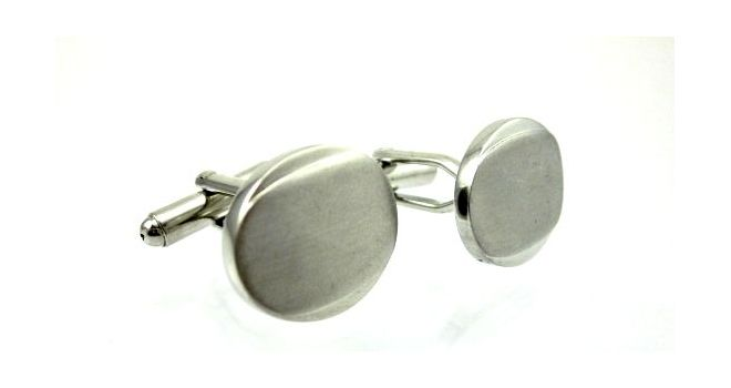 Mens Cufflinks - Plain and engravable. Find it at www.giftedmemories.com.au