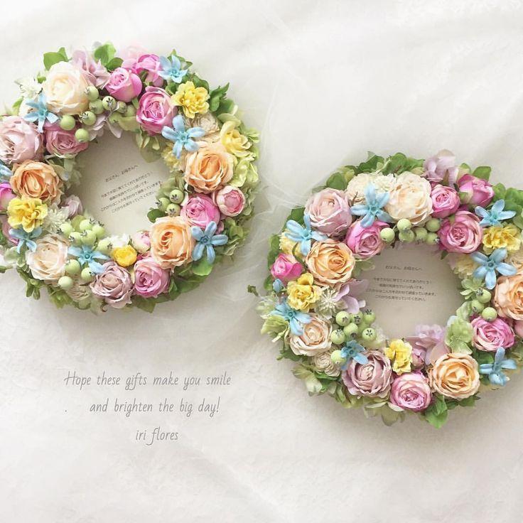 いいね!20件、コメント1件 ― iri flores(イリフローレス)さん(@iriflores.botanica)のInstagramアカウント: 「Happy wedding! ・ パステルカラーの#ペアリース が完成しました。 ラッピングをピンク×ブルーにして可愛さup! アーティフィシャルフラワー(造花)のため、…」#両親贈呈品 #新築祝い #パステルカラー #パステル #ディズニープリンセス #開店祝い #ナチュラルリース #ペアリース #両親への花束 #リースブーケ #ウェルカムスペース #ブルーリース #ピンクリース #ローズリース #アーティフィシャルフラワーリース #アートフラワーリース #ウェルカムリース#アーティフィシャルフラワー #造花 #リース #ペアリース #ナチュラル #ピンク #ブルー #贈呈品 #フラワーギフト #記念日 #ウェディング #結婚式 #新築祝い #ウェルカムスペース #結婚祝い #野花 #両親へのプレゼント #マカロン #ウェルカムボード #造花のリース #結婚式前撮り #フラワーギフト #アートフラワー #海外挙式