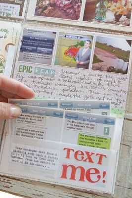 TIP: Take screen shots of texts to save them in a scrapbook