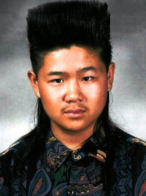 This guy proved that a hi-top was the best way to improve on a mullet: | 25 Photos Of '80s Hairstyles So Bad They're Actually Good