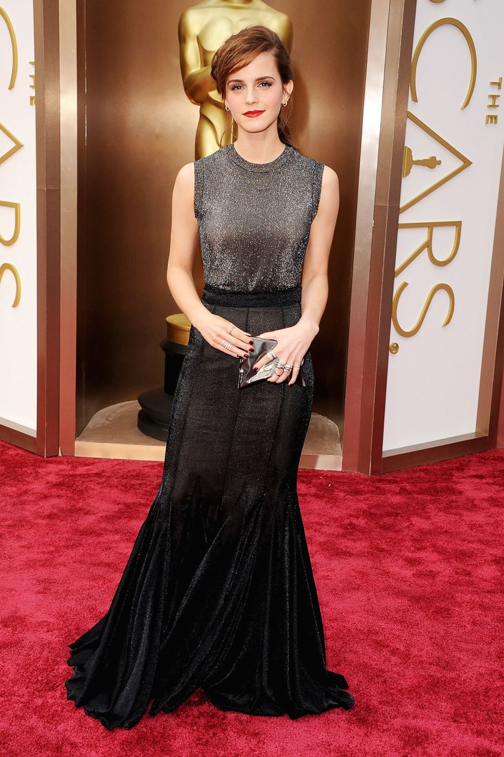 Emma Watson in Vera Wang at The Oscars 2014