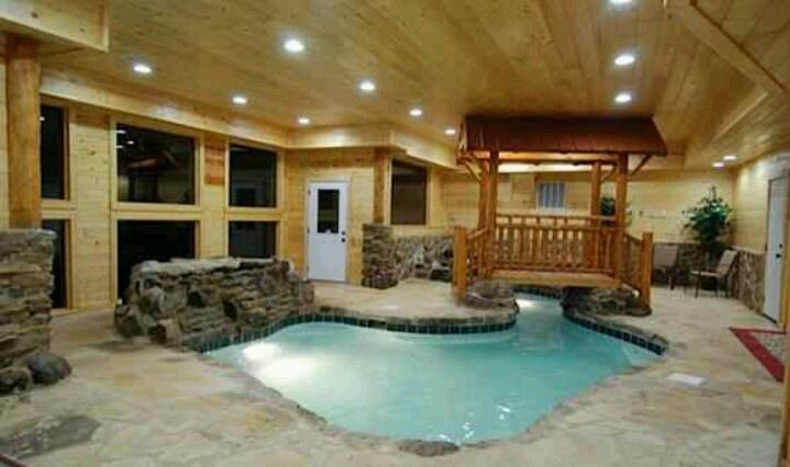 Indoor pool home decor pinterest for Cabin indoor pool