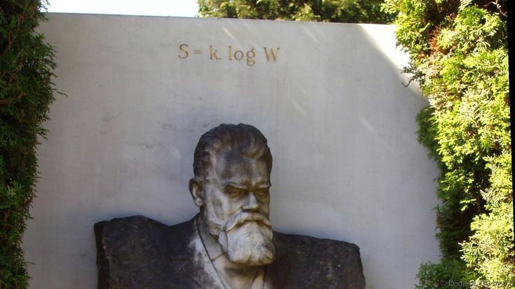 Ludwig Boltzmann's tombstone, complete with entropy equation (Credit: Daderot, CC by 3.0)