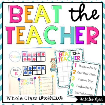 Are your students needing a fun refresher on classroom expectations? This whole class incentive is the perfect amount of friendly competition to get them excited about practicing - even when spring fever starts to hit!  Read about how I implement this in my classroom here: Beat the Teacher: A Whole Class Incentive  Students will work towards earning magnets in their ten frame when they are showing that expectation (ours was whole body listening).