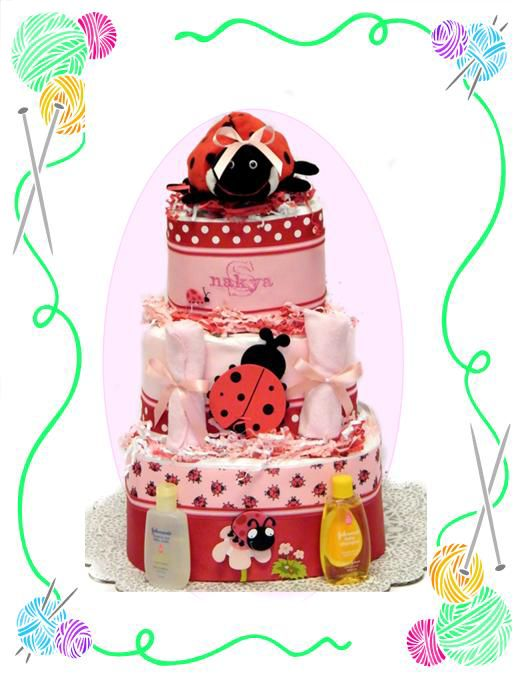 Little Ladybug Diaper Cake
