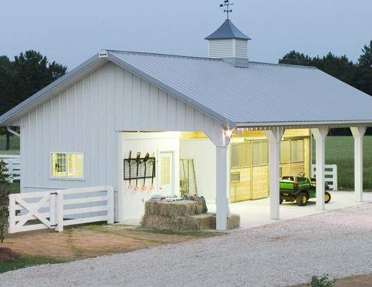 Small Barn with a Breezeway