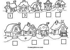 downloads » Juf Sanne nog 2 huisjes werkbladen op de site