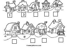 Herfst huisnummers Oneven of even getallen: klappen, stampen, springen