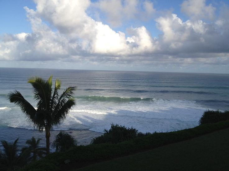 View from lanai at Pali Ke Kua Lanai, Favorite places, Kauai