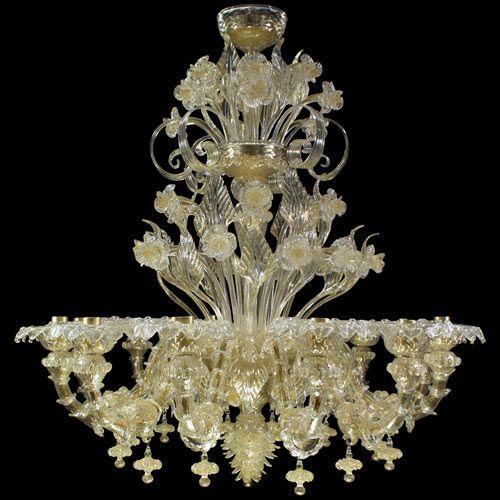 #Rezzonico #chandelier, #gold color.