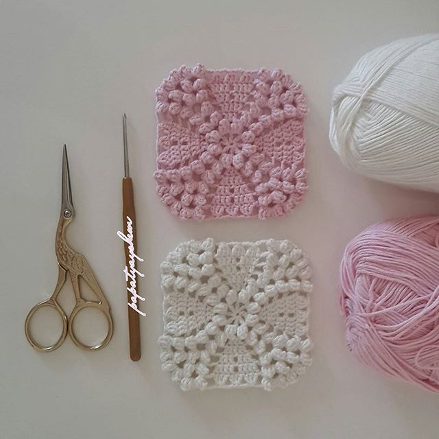 papatyayshem crochet bobble texture squares. What an awesome afghan this motif would make ༺✿ƬⱤღ http://www.pinterest.com/teretegui/✿༻